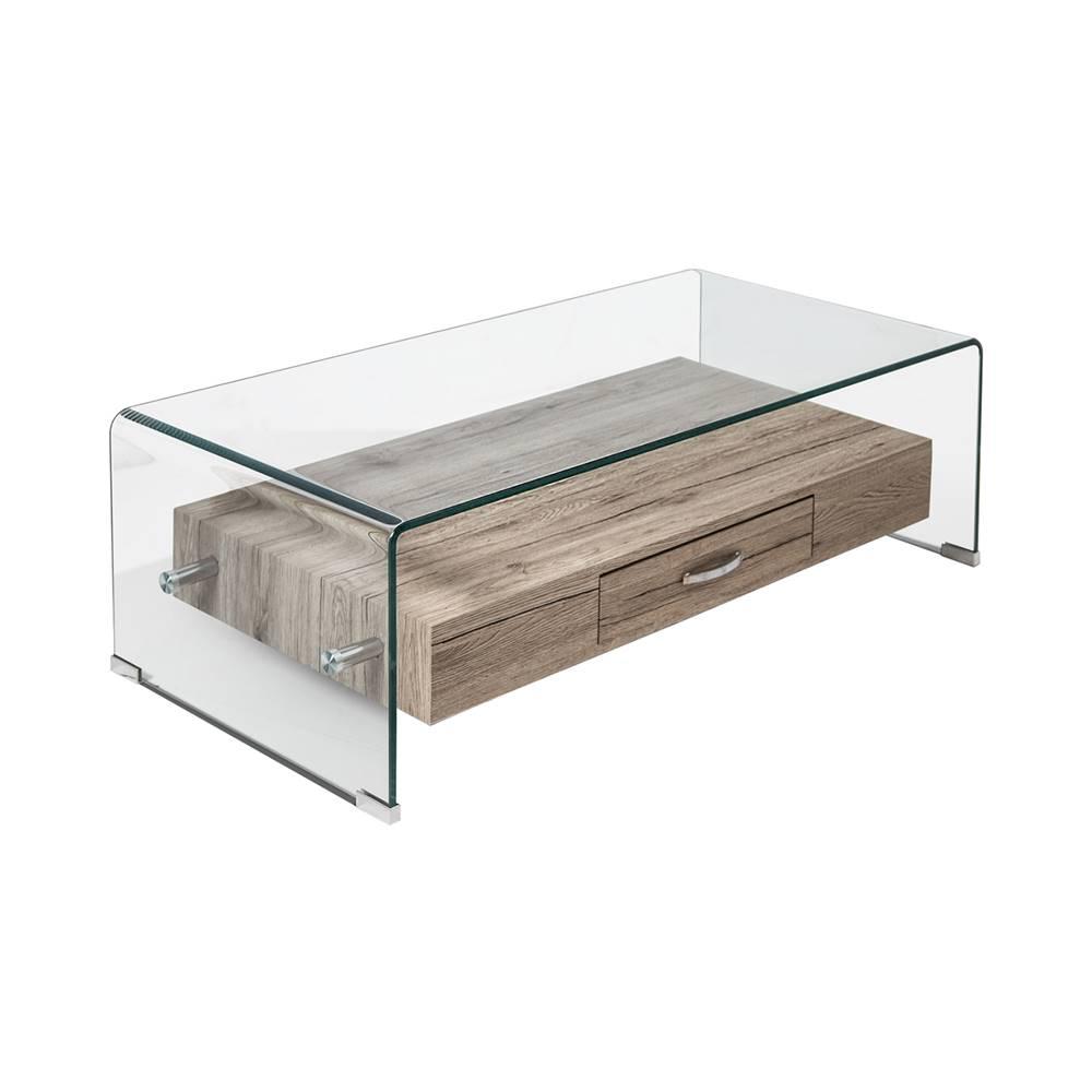IDEA Nábytok Konferenčný stolík 1 zásuvka sklo/MDF