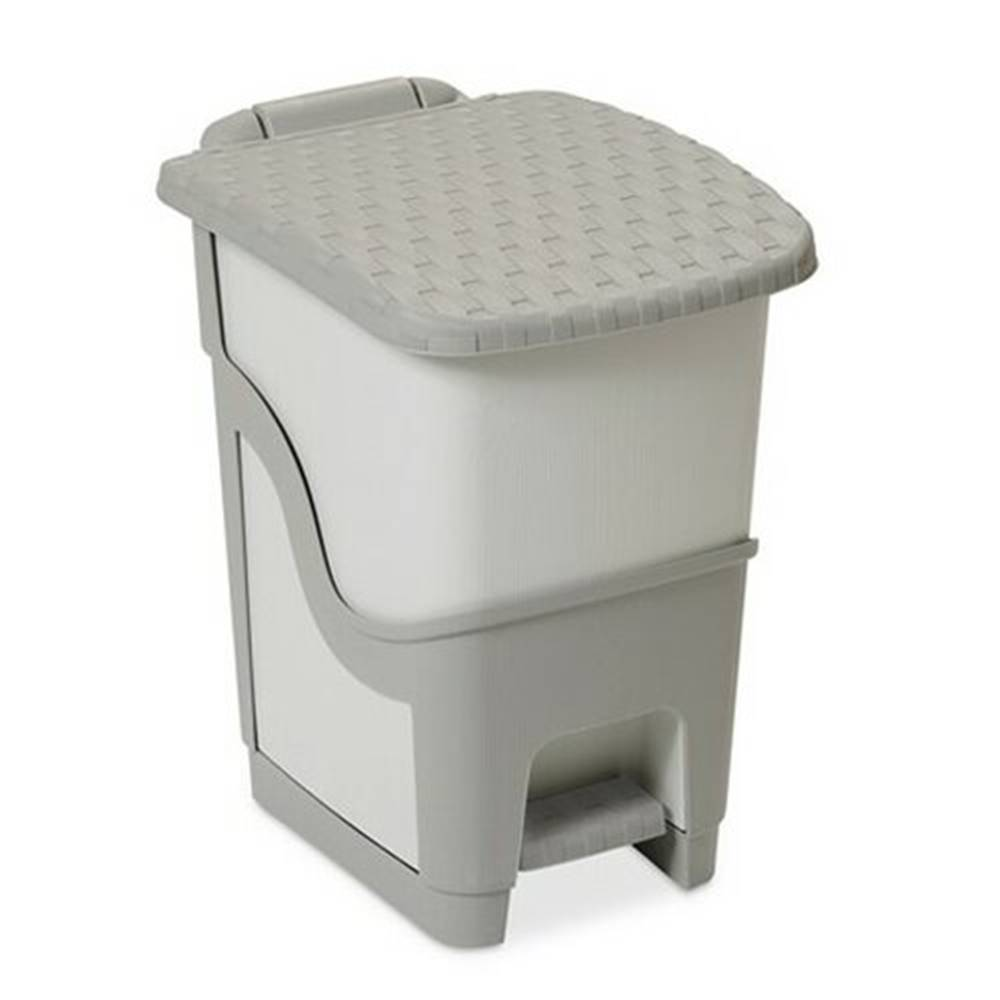 Banquet Ratanový odpadkový kôš 18 l, sivá