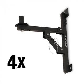 Skytec 4x nástenný držiak PA reproduktorov,statív, čierny, 50kg max