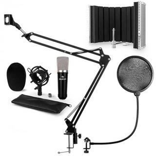 Auna CMO003 V5, čierna, mikrofónová sada, kondenzátorový mikrofón, mikrofónové rameno, XLR