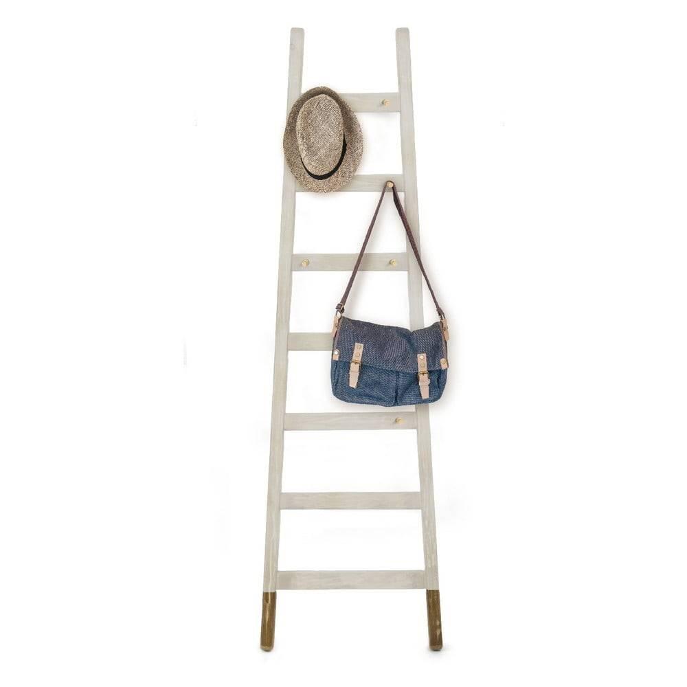 Little Nice Things Sivý odkladací dekoratívny rebrík z borovicového dreva Surdic Gris Hielo
