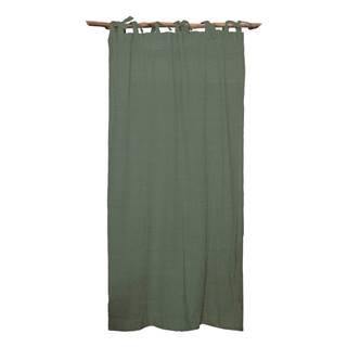 Zelený záves Linen Cuture Cortina Hogar Green