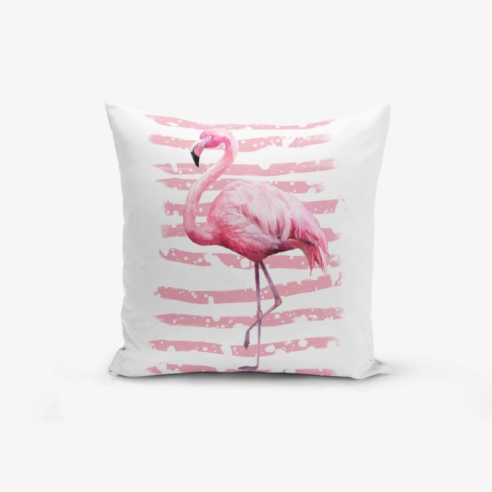 Minimalist Cushion Covers Obliečka na vankúš Minimalist Cushion Covers Linears Flamingo, 45 × 45 cm