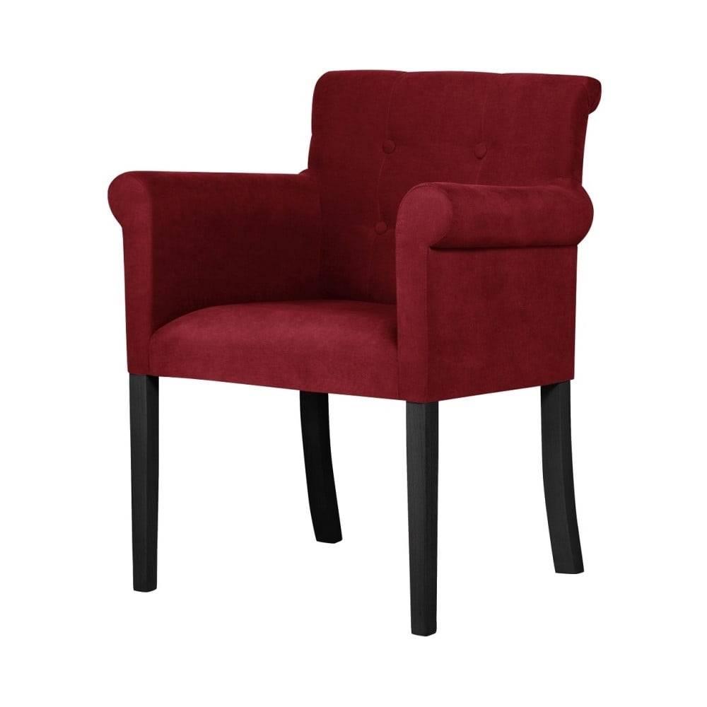 Ted Lapidus Maison Červená stolička s čiernymi nohami Ted Lapidus Maison Flacon
