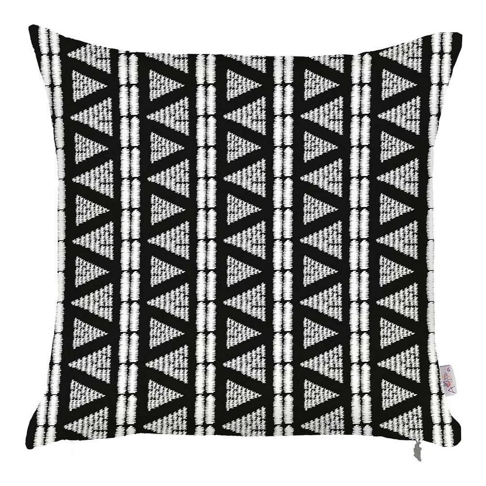 Apolena Čierno-biela obliečka na vankúš Apolena Geometric Tribal, 43×43 cm