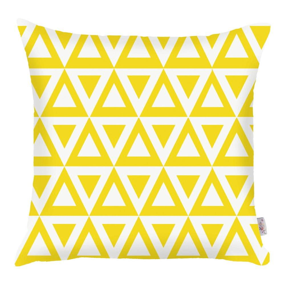 Apolena Žltá obliečka na vankúš Apolena Triangle, 43×43 cm