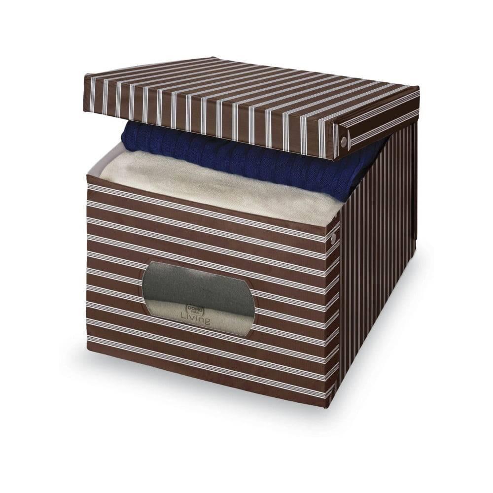 Domopak Hnedo-sivý úložný box Domopak Living, 31×50cm