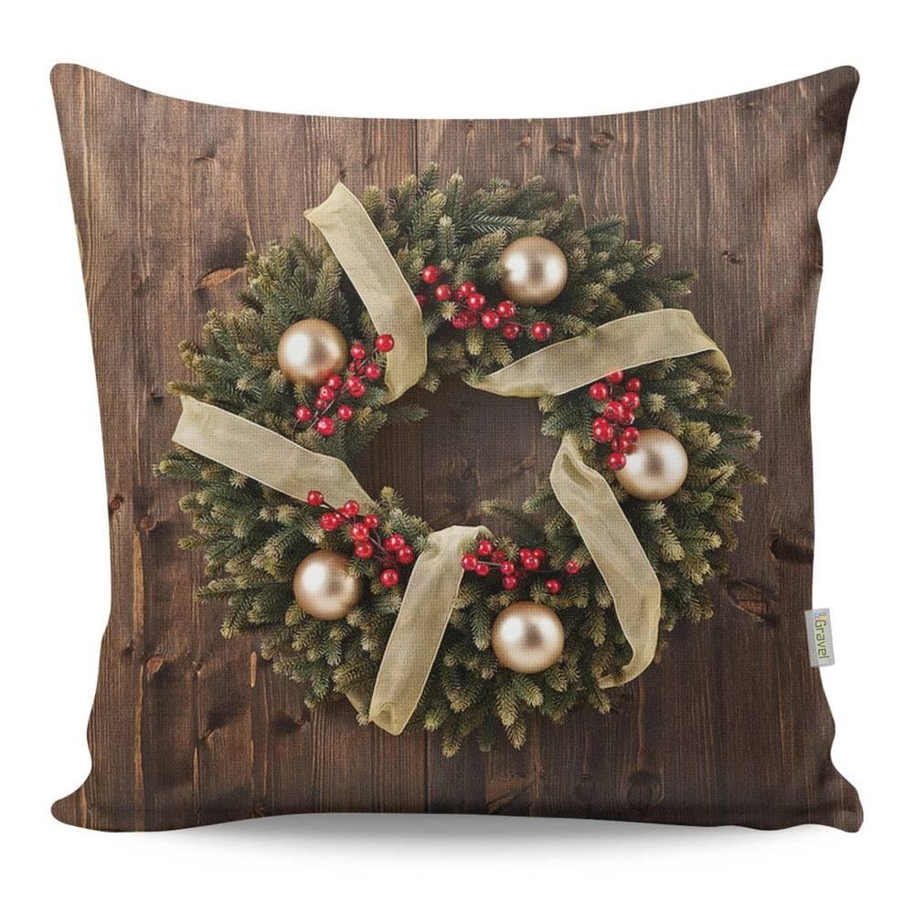 Gravel Obojstranný vankúš Wreath, 43 × 43 cm