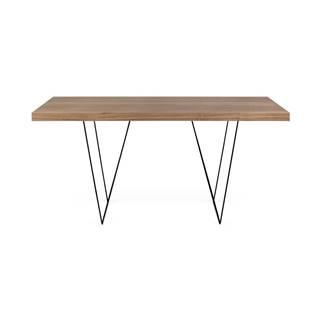 Jedálenský stôl s doskou v dekore dreva a kovovými nohami TemaHome Trestle, 90 x 160 cm