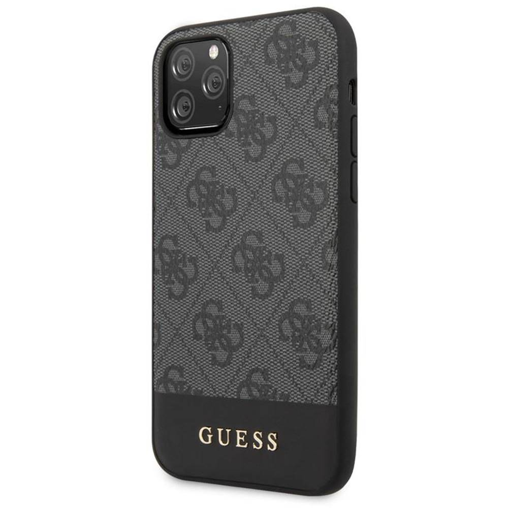 Guess Kryt na mobil Guess 4G Stripe na iPhone 11 Pro Max sivý