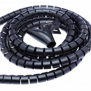 Trubice pro kabely Connect IT Winder, 1,5m x 30mm - černý