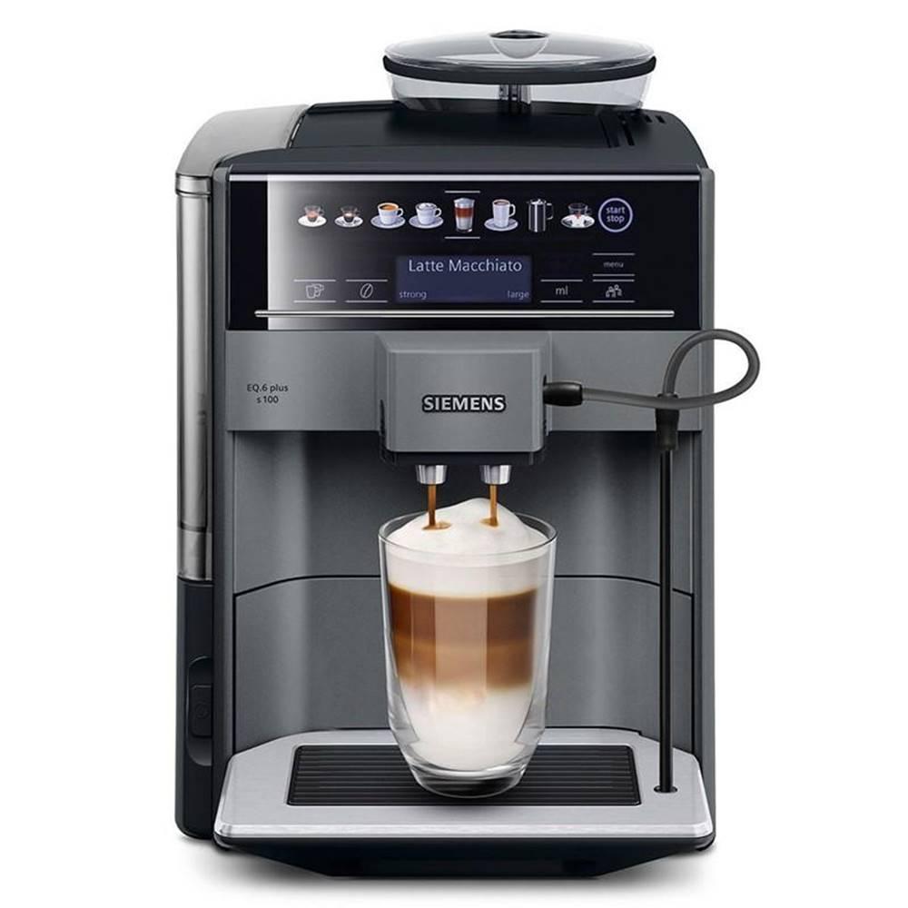Siemens Espresso Siemens EQ.6 plus Te651209rw čierne/siv