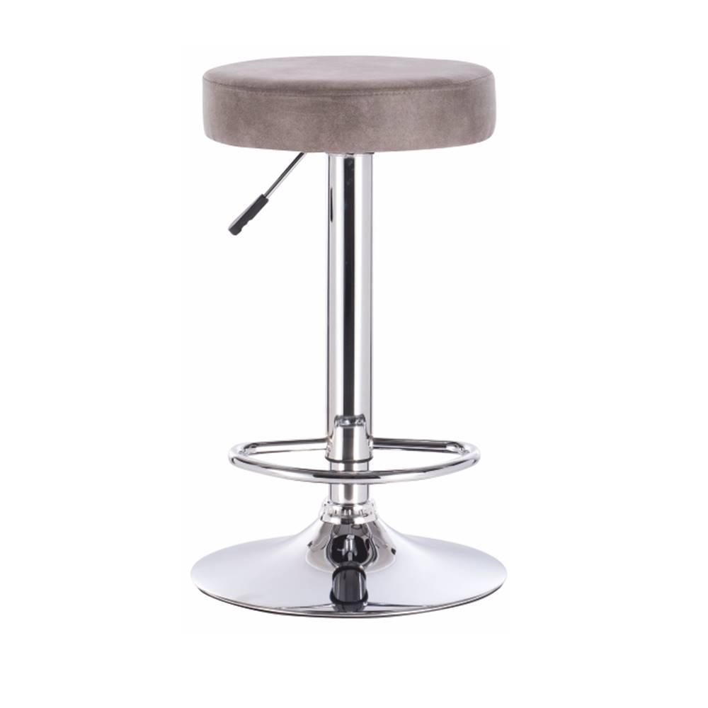 Tempo Kondela Barová stolička sivohnedá látka s efektom brúsenej kože GALVIN