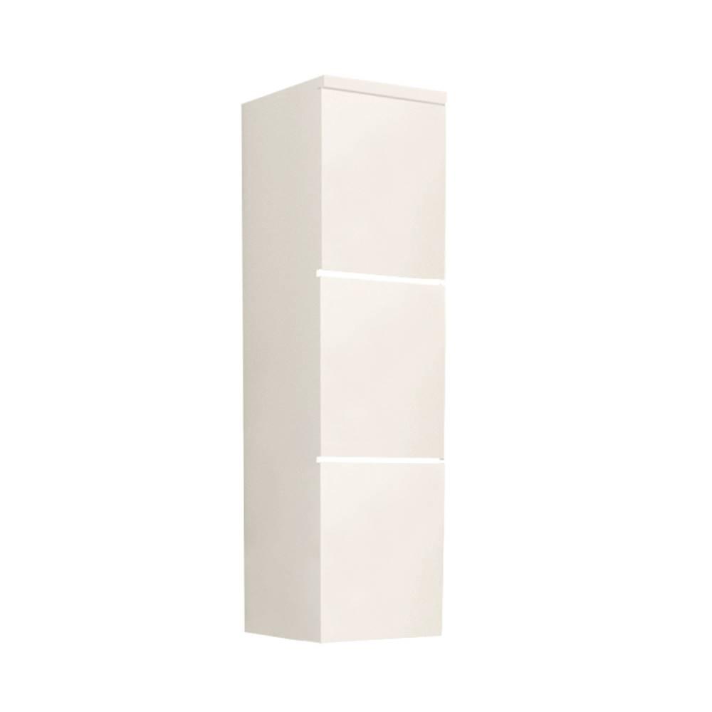 Tempo Kondela Skrinka vysoká biela/biely extra vysoký lesk HG MASON WH11