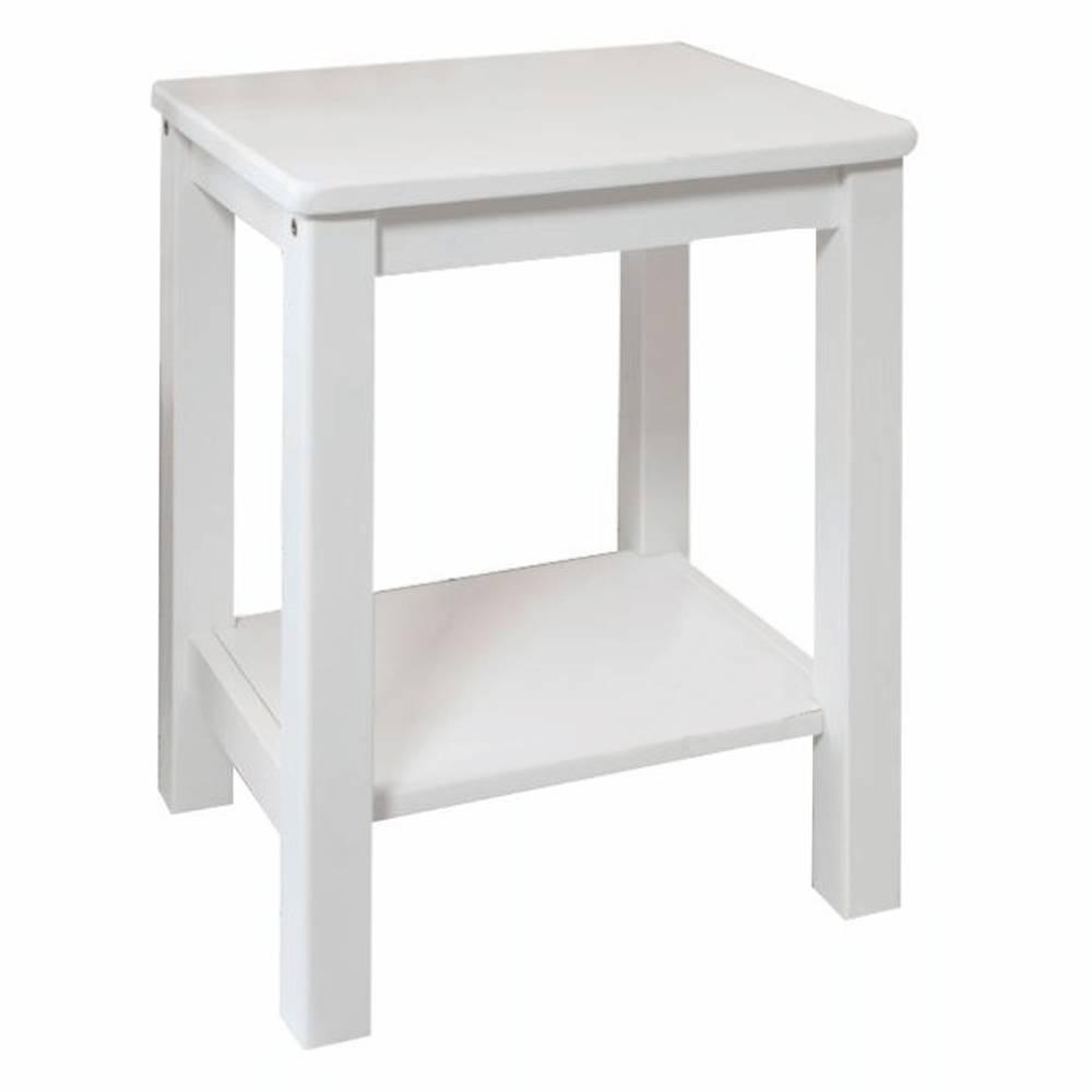 Tempo Kondela Nočný stolík masív/biela FOSIL
