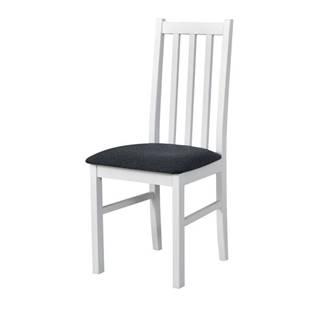 Jedálenská stolička BOLS 10 tmavosivá/biela