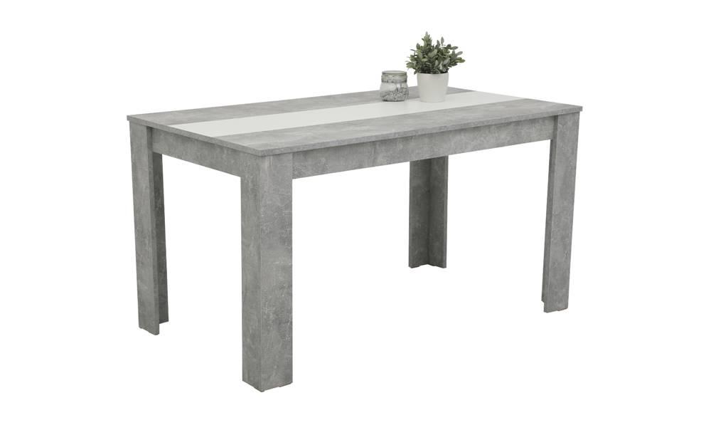 Sconto Jedálenský stôl MAREIKE T betón/biela